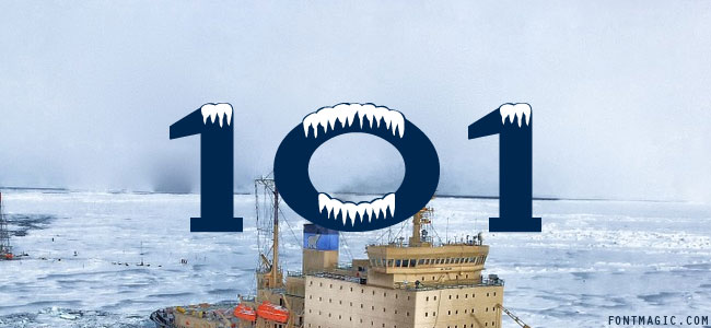 101! Arctic Blast font preview graphic