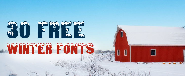 30 Free winter fonts for your craft projects - Cover photo