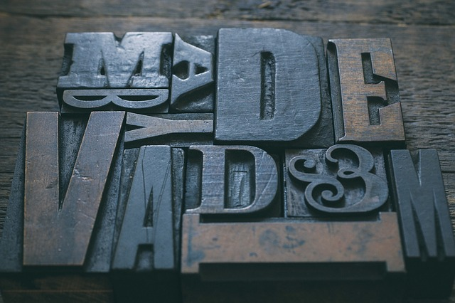 Alphabet Retro Letters pad