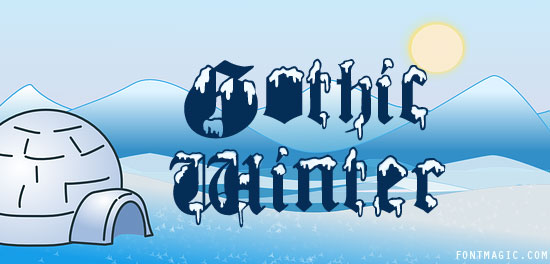 Gothic Winter font preview graphic