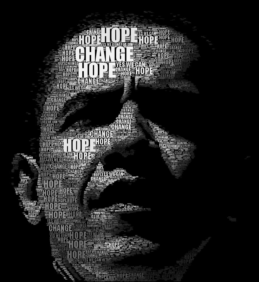 Obama Typography face
