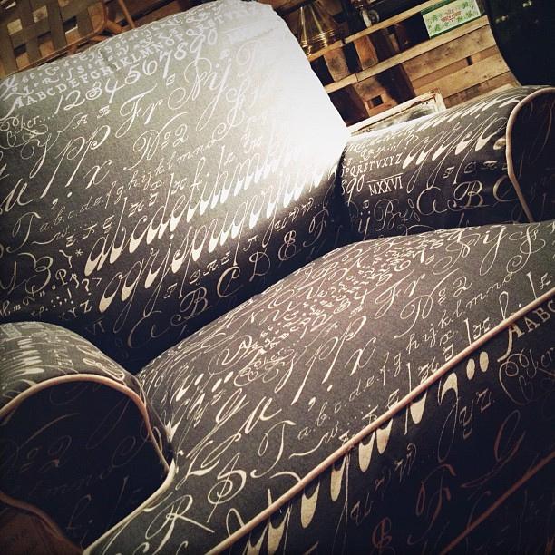 Typographic furniture sofa, chair