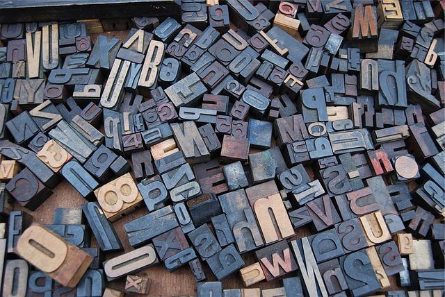 Typography Typeset Blocks image