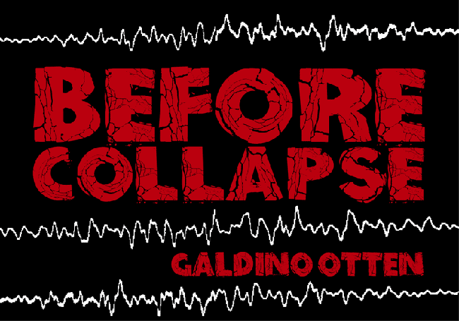 Before Collapse font which the horror looks