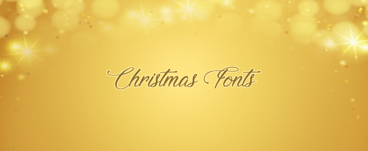 Best Christmas fonts list cover graphic