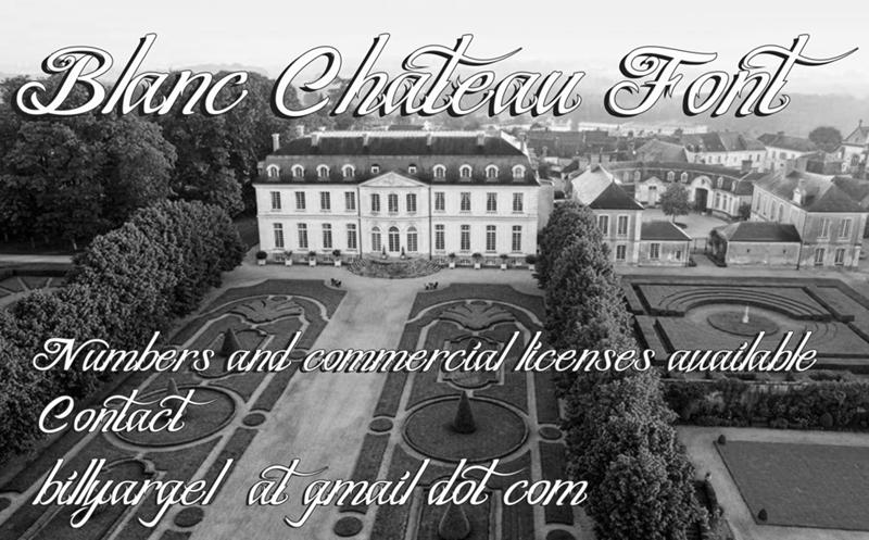 Blanc Chateau font cover photo