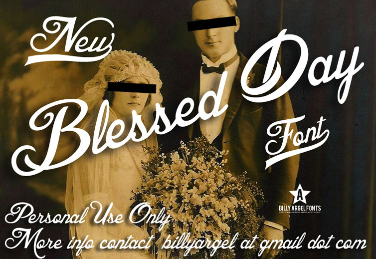 Blessed Day font cover photo