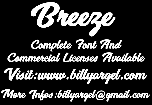 Breeze font cover photo
