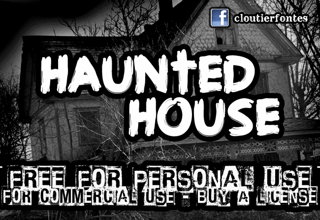 CF Haunted House font cover photo