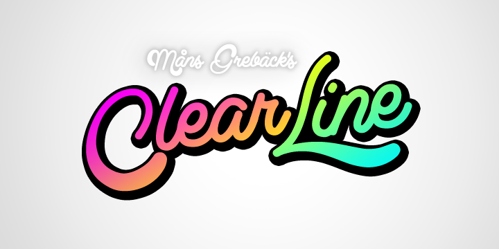 Clear Line font cover photo