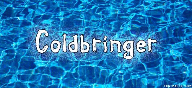 Coldbringer font graphic