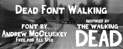 Dead Font Walking font cover photo