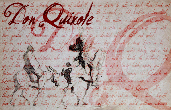 Don Quixote font cover photo