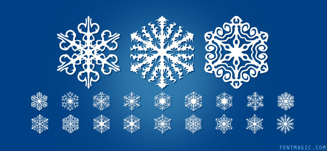 Faux Snow dingbat font design graphic