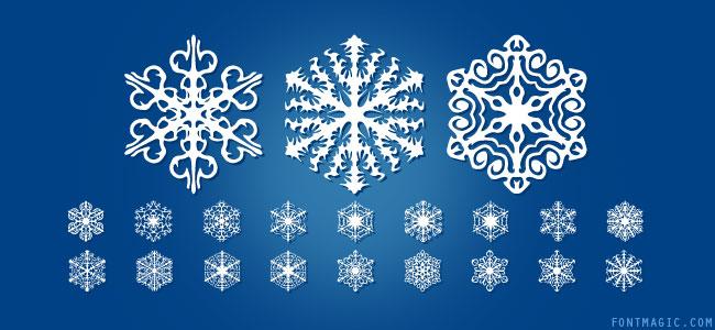 Faux Snow dingbat font design graphic