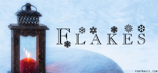 Flakes font graphic