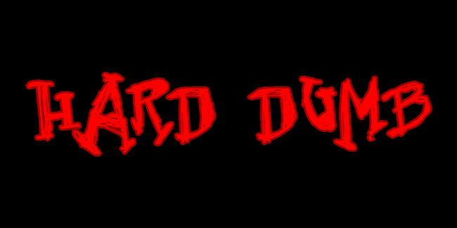 Hard Dumb font cover photo