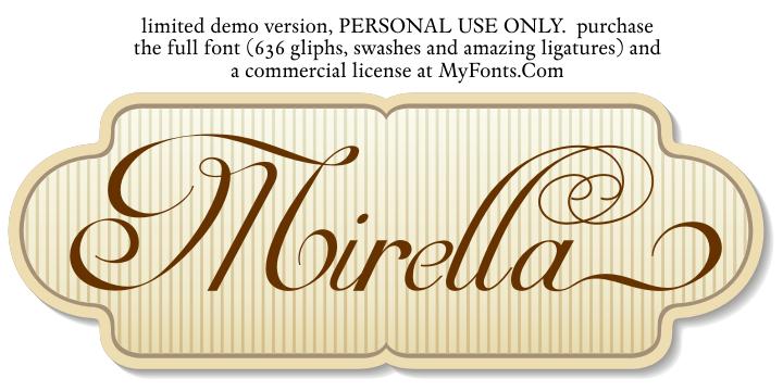 Mirella Script font cover photo