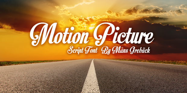 Motion Picture font cover photo