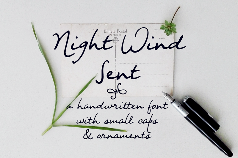 Night Wind Sent font cover photo