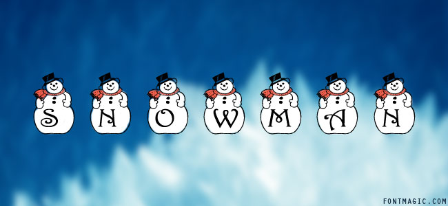 PF Snowman font graphic