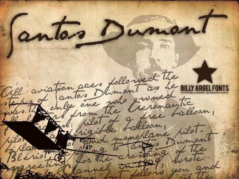 Santos Dumont font cover photo