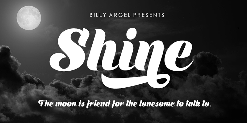 Shine font cover photo