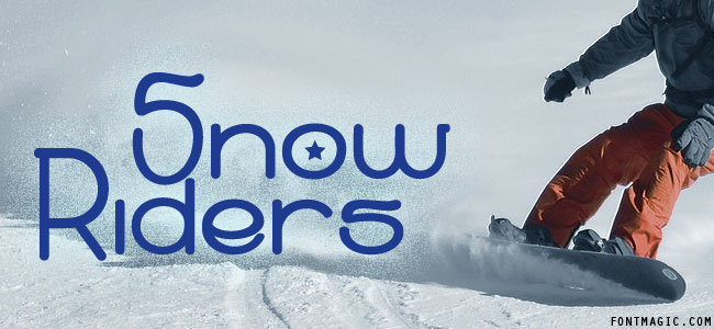 Snow Riders font graphic