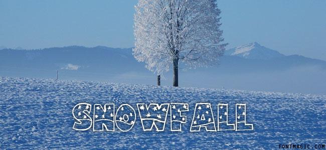 Snowfall font graphic