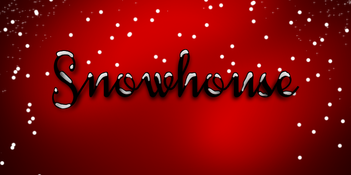 Snowhouse font design graphic