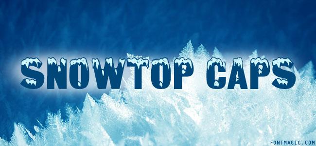Snowtop Caps font graphic