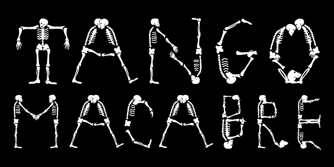 Tango Macabre font cover photo