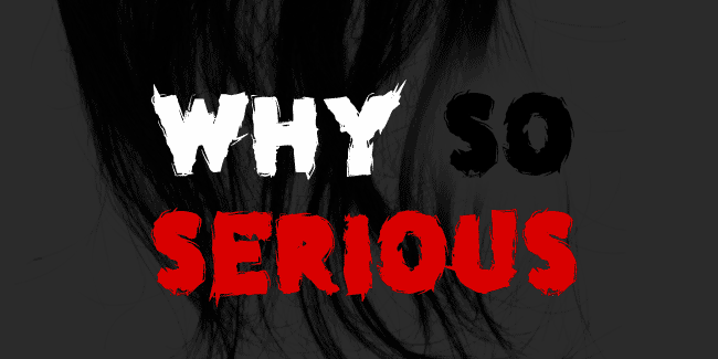 Why so serious font cover photo