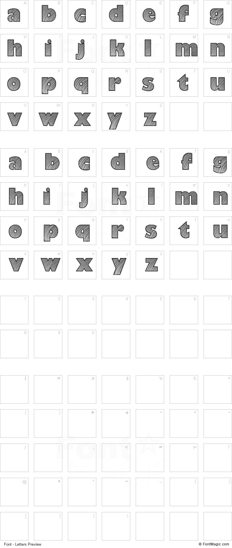 Moaren Font - All Latters Preview Chart