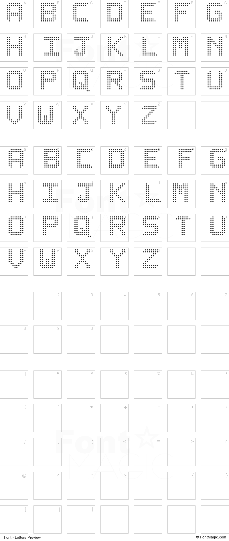 Lediz ST Font - All Latters Preview Chart