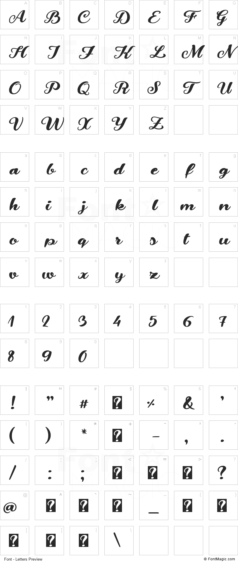 Snowman Dudes Font - All Latters Preview Chart