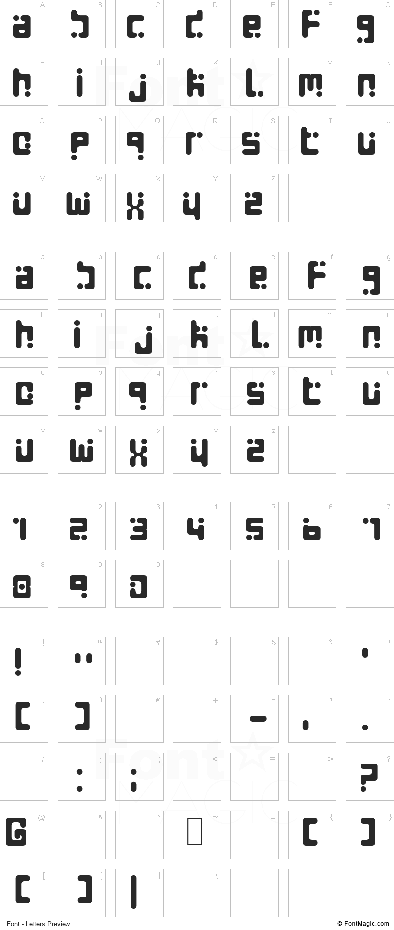 Seeds Font - All Latters Preview Chart