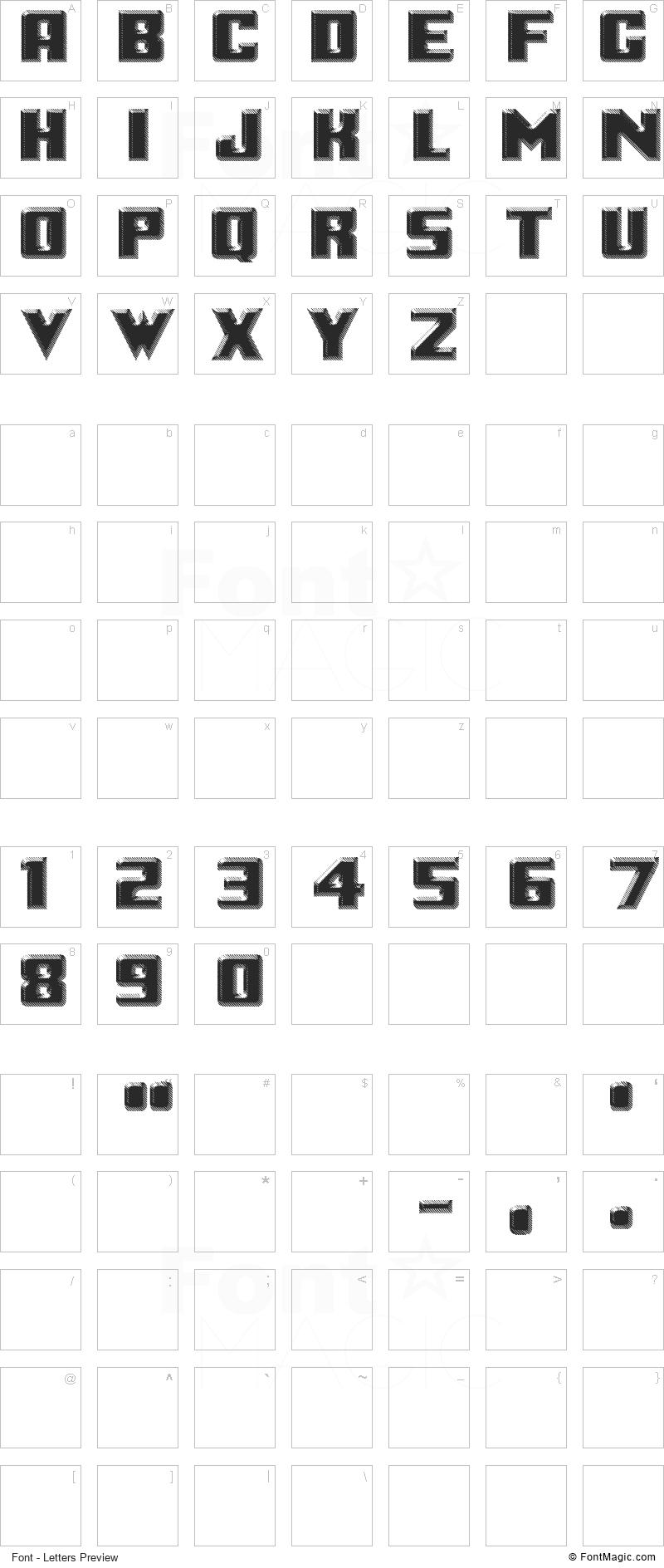 LOGOTRONIK Font - All Latters Preview Chart