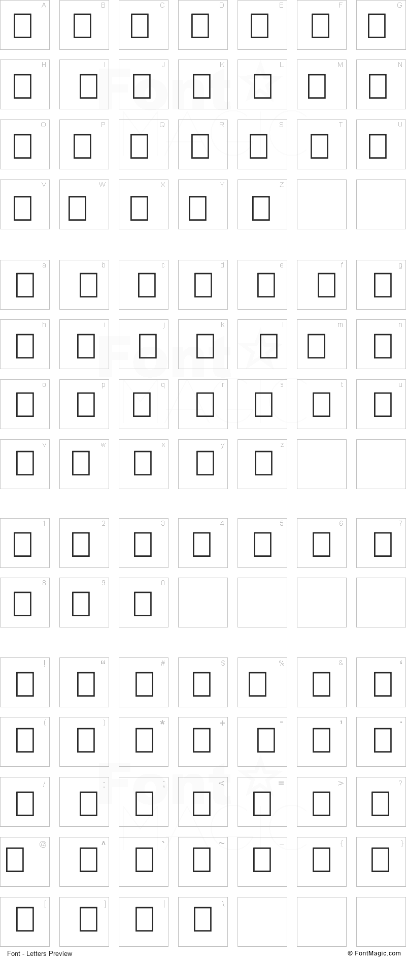 Goodjean Font - All Latters Preview Chart