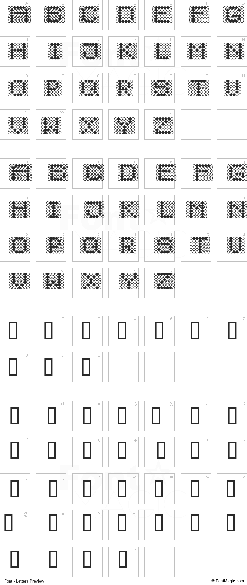 Diodos Font - All Latters Preview Chart