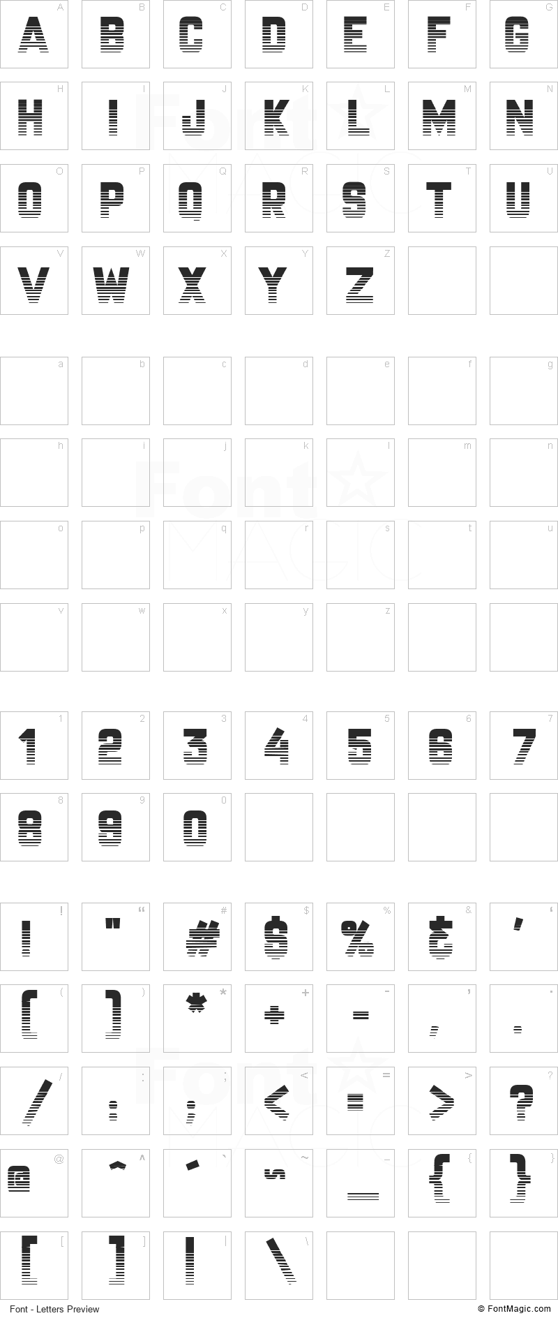 CHAMPIONSHIP Font - All Latters Preview Chart