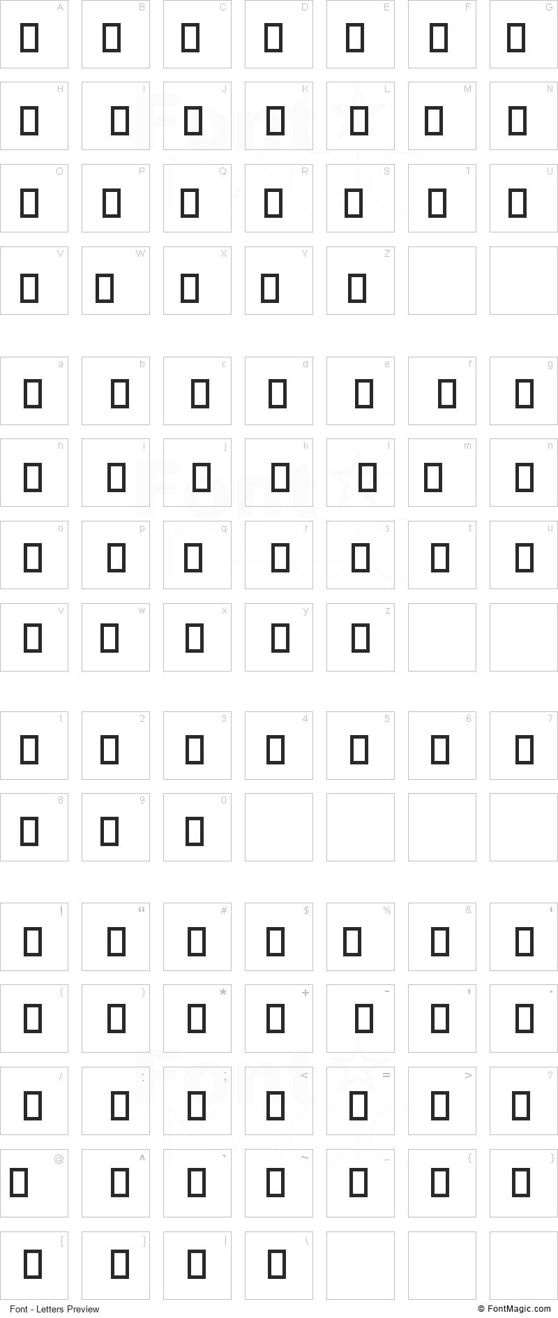 Devoto Font - All Latters Preview Chart