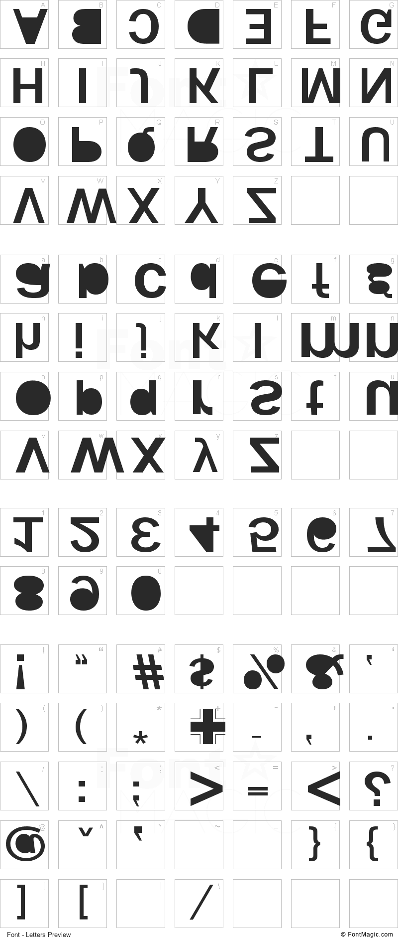 Woodcutter Kaos Font - All Latters Preview Chart