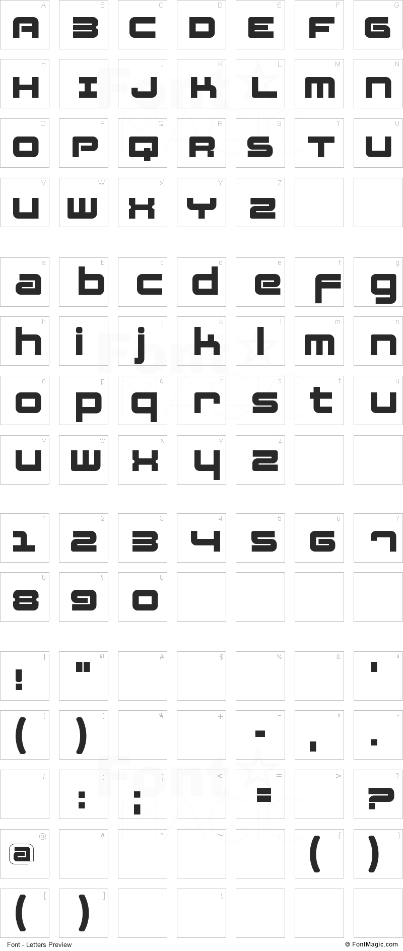 Fatsans Font - All Latters Preview Chart