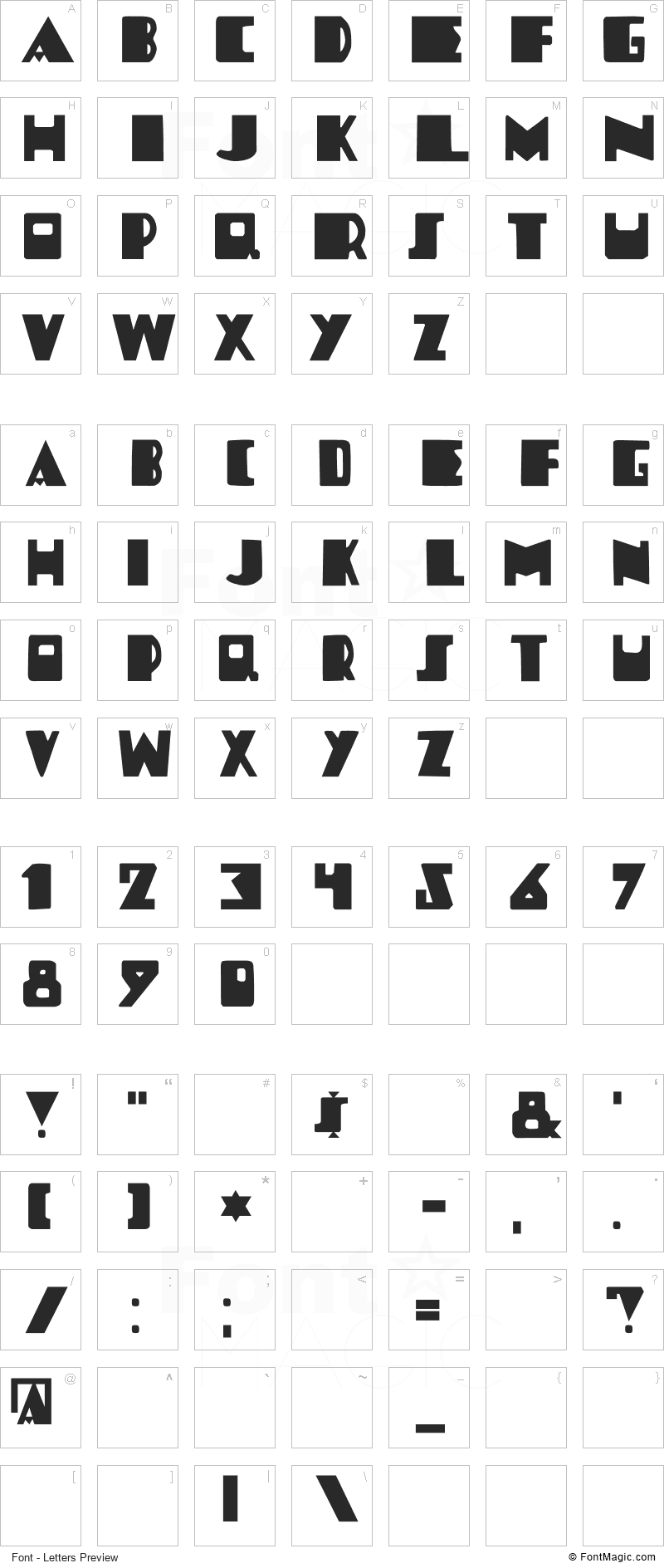 DK Louise Font - All Latters Preview Chart