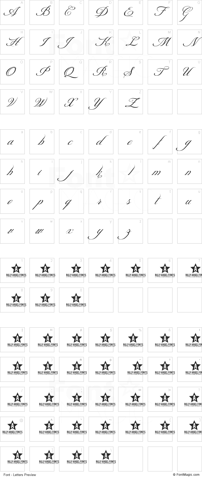 Shit Happens Font - All Latters Preview Chart