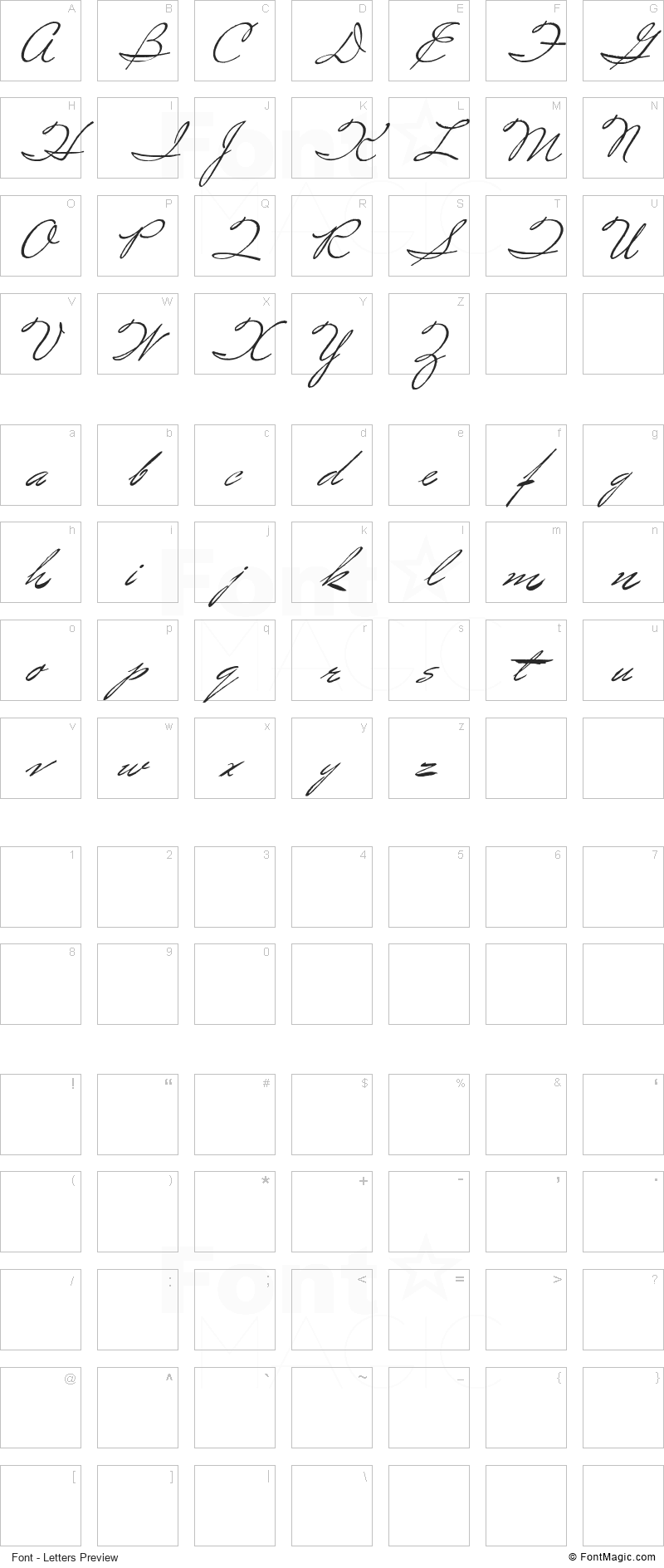 Spirulina Font - All Latters Preview Chart