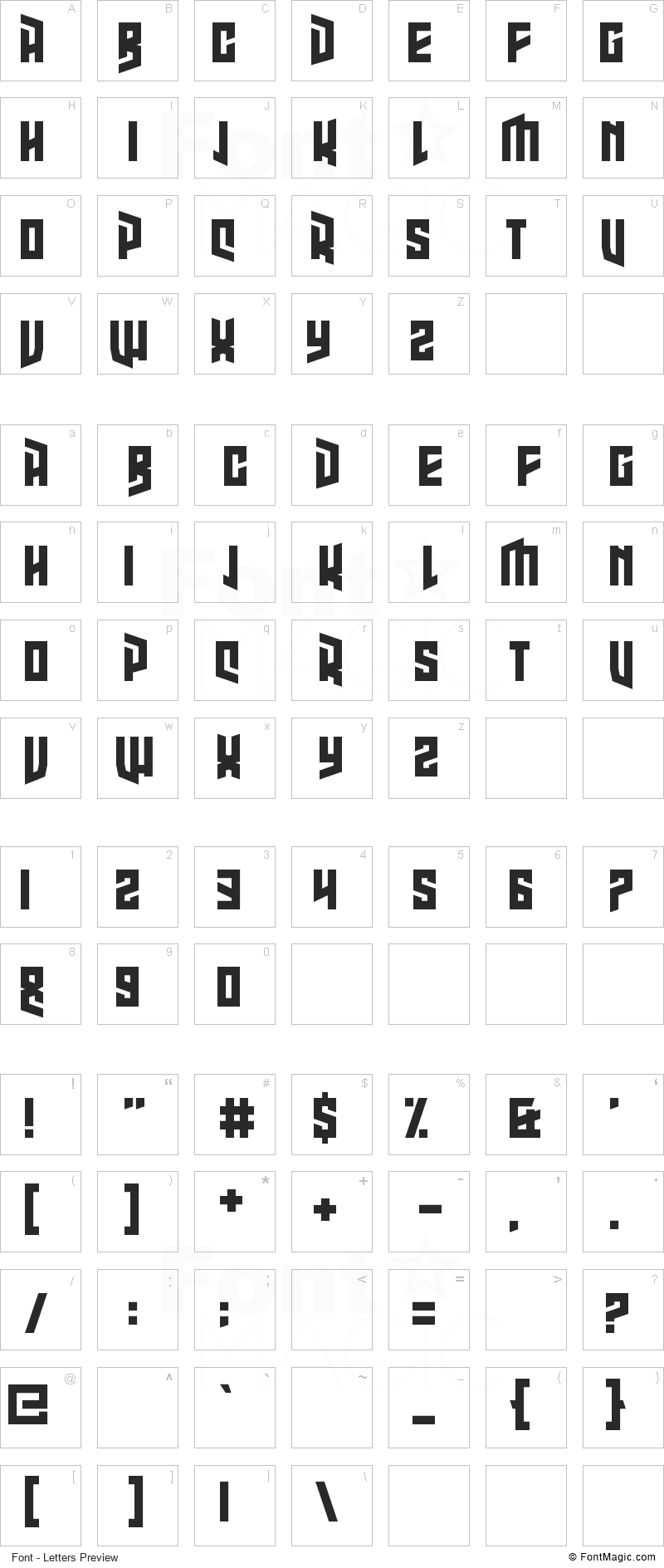 High Jinks Font - All Latters Preview Chart