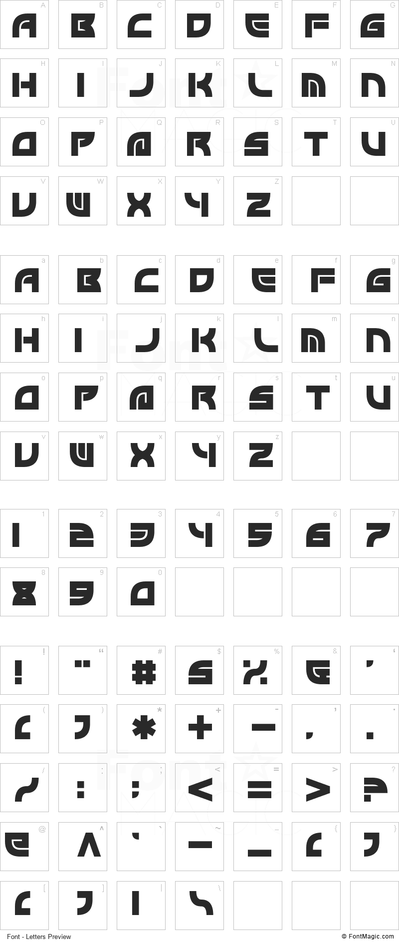Byron Font - All Latters Preview Chart