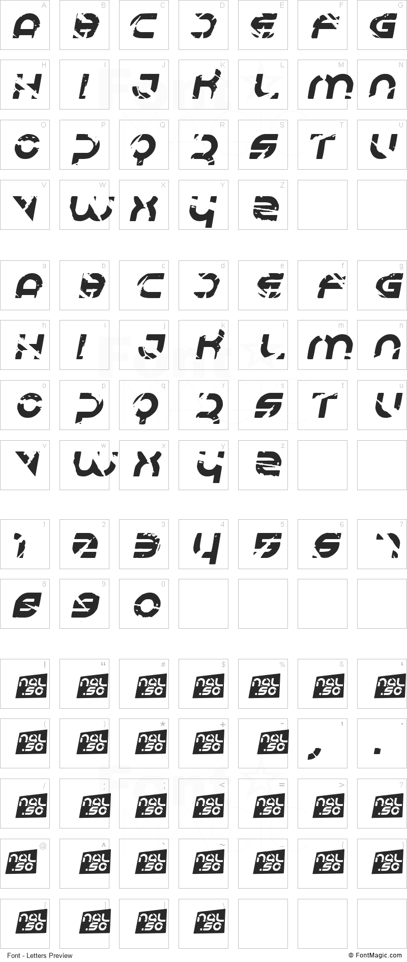 Respire Font - All Latters Preview Chart